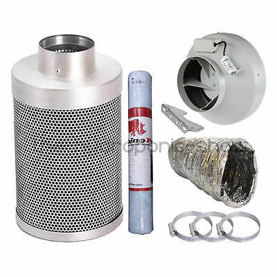 £159.95 • Buy Rhino Pro Carbon Filter Kit Systemair RVK Fan With Aluminium Ducting Hydroponics