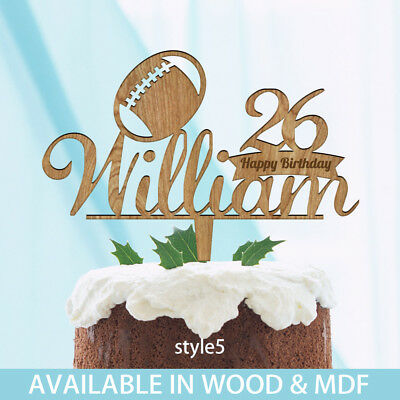 RUGBY Boys Birthday Cake Topper Personalised Decoration ANY NAME AGE O 599GBP