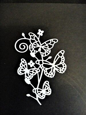 4 X butterfly/flower Card Toppers, Paper Die Cut, Wedding, anniversary,birthday  • 2.25£