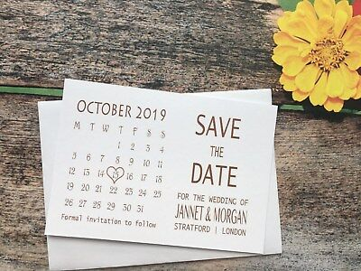 AU26.98 • Buy Personalised Magnetic Wedding Save The Date Evening Cards Diamante Envelopes 21a