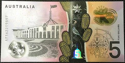 AU10.46 • Buy Banknote - 2016 Australian $5 Dollar Polymer Bank Note, UNC