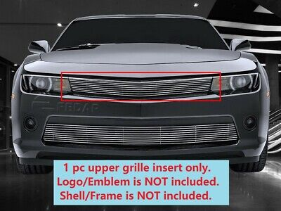 $31.61 • Buy Polished Billet Grille Front Upper Grill INSERTS Fits 2014-2015 Chevy Camaro RS