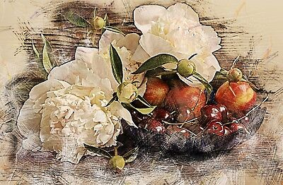£6.79 • Buy Vintage Chic Style Flower/food Canvas Picture Poster Print Unframed #1374