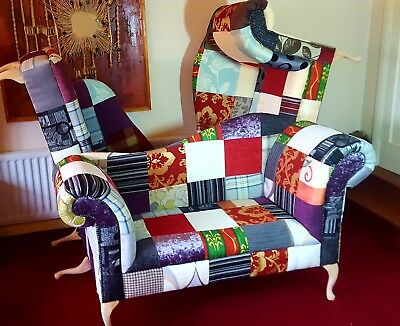 £595 • Buy New Sofa Love Seat Chaise Lounge Patchwork