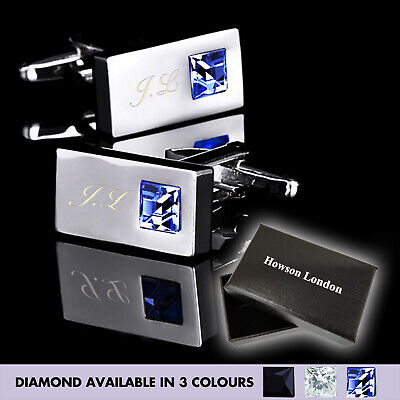 £6.99 • Buy Personalised Stainless Mens Wedding Gift Cufflinks Engraved Groom Gift For Him