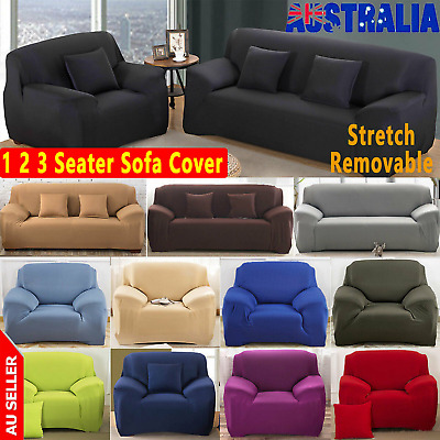 AU23.54 • Buy 1 2 3 Seater Easy Stretch Sofa Cover Couch Lounge Recliner Slipcover Protector