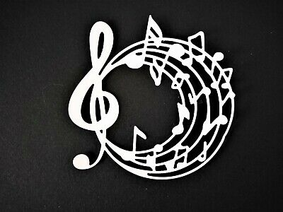 £2.50 • Buy 5 Circular Stave Card Toppers, Birthday, Music, Paper Craft, Die Cut