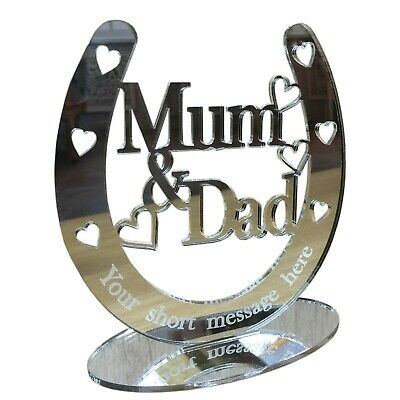 £9.99 • Buy Personalised Anniversary Gifts Parents Grandparents 25th 40 50th Silver Wedding