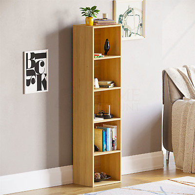 £27.95 • Buy Oxford 5 Tier Cube Bookcase Display Shelving Storage Unit Wooden Stand Oak New