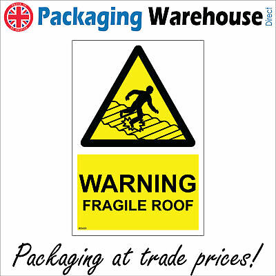 £5.17 • Buy Ws439 Warning Fragile Roof Sign Unsafe Surface Roofing Tiles Warehouse Building