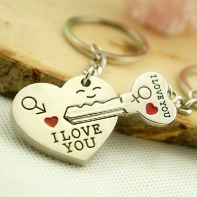 £3.15 • Buy  PERFECT His And Hers I LOVE YOU Heart Couple Keychain Keyring Lover Gift