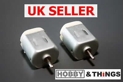 2x DC Motor - Toy Motor - 3v-6v - 130 Motor Replacement UK SELLER • 2.33£