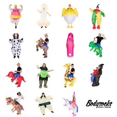 Adult Inflatable Funny Blow Up Fancy Dress Carry On Ride Costume Outfit Fat Suit • 27.99£