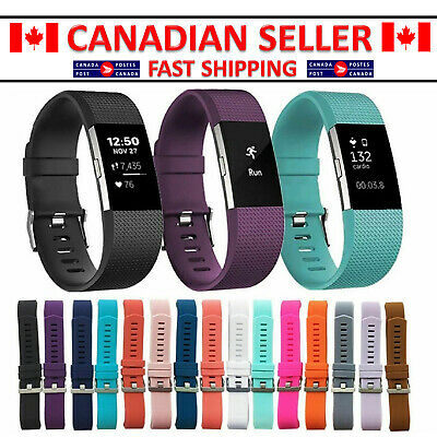 $ CDN6.99 • Buy FOR Fitbit CHARGE 2 Replacement Silicone Rubber Band Strap Wristband Bracelet