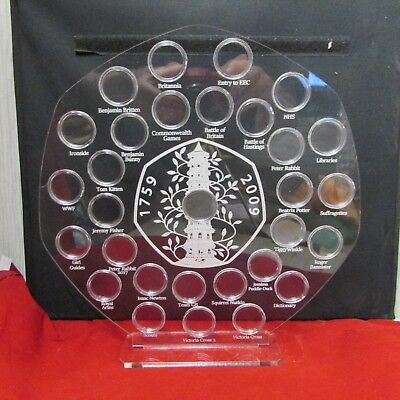 50p Pence Coin Hunt Album Kew Gardens Stand Olympic 2012 50p Display Holder  • 42£