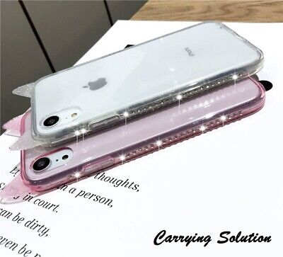 £5.04 • Buy Bling Rhinestone Cat Ear Shockproof Soft Protector Case For IPhone X XS Max XR