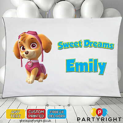 Personalised Paw Patrol Skye Kids Pillowcase Pillow Case • Any Name • Great Gift • 8.99£