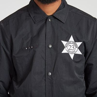 7a09906b09f9ea Nike Air Jordan Pinnacle 1 Security Coaches Jacket Black 835951 010 Size M.  • 57.34