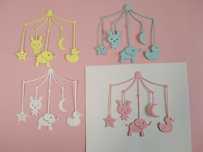 6 Xcot Mobile Cardtoppers, New Baby, Birthday, Baby Shower • 1.99£