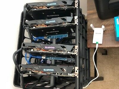 AMD Etherium Mining Rig Matching Gigabyte 570*Plug In Wallet And Leave It Alone* • 1,000$