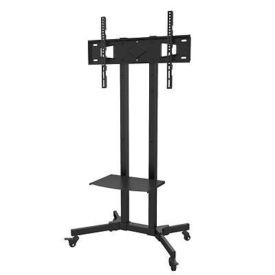 MountRight Black All Steel Trolley TV Display Stand With Bracket And Castors • 39.95£