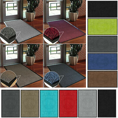 Large Heavy Duty Rubber Barrier Non Slip Door Mat Runner Rugs Back Hall Kitchen • 9.93£