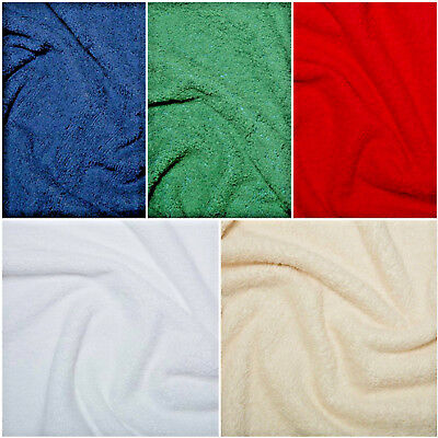 £6.99 • Buy Cotton Or Bamboo Terry Towelling Fabric Plain Solid 10 Colours Material
