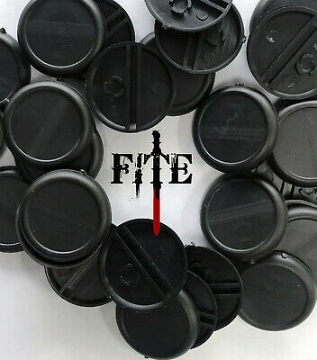 £2.40 • Buy 30mm Round Plastic Bases With Lip: Malifaux Lipped Infinity BRAND NEW Black Base
