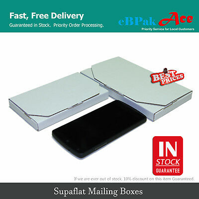 AU25.90 • Buy Superflat Mailing Box Flat Carton Rigid Envelope Mailer A5 A4 B4 Size White
