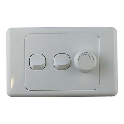 AU29.99 • Buy 3 Gang Wall Plate With Switch & LED Light Dimmer SAA - Trailing Edge