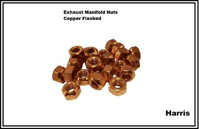 Exhaust Manifold Nuts | Copper Flashed Nuts | High Temperature | Metric M8, M10  • 3.89£