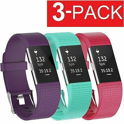 $ CDN8.47 • Buy 3 Pack Replacement  Band For Fitbit Charge 2 Bracelet Watch Rate Fitness