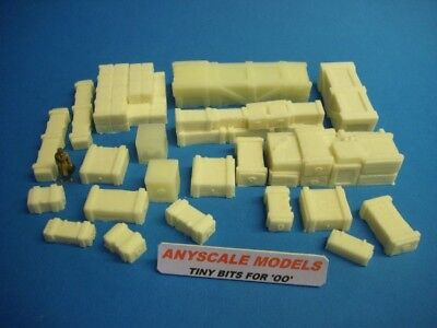 £8.99 • Buy OO Model Railway. Large Boxes And Crates. 21 Assorted Pieces 1:72 Scale (0120)