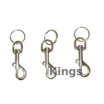 1 Snap Spring Clip Keyring Key Chain Belt Clip For Keys Jacket Bike Keyring Hook • 1.94£