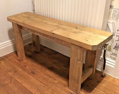 Rustic Handmade Wooden Bench- Many Colours And Sizes – Unique Design. • 56.99£