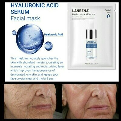 Hyaluronic Acid 100% Natural Pure Firming Collagen Strong Anti Wrinkle Mask UK • 2.99£