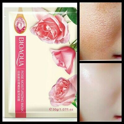 HYALURONIC ACID & ROSE Natural Pure Firming Collagen Strong Anti Wrinkle Mask UK • 2.49£