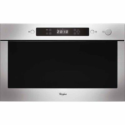 Whirlpool Absolute AMW423IX Built In Microwave Stainless Steel #321 • 265£