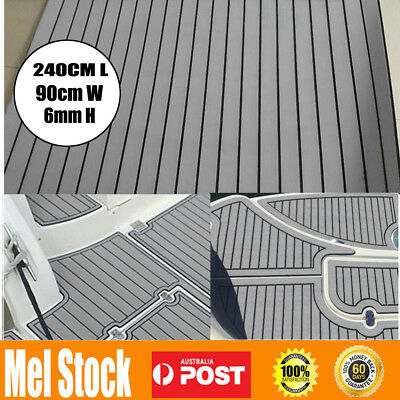 AU63.99 • Buy 240cmx90cm Marine Flooring Faux Teak EVA Foam Boat Yacht Decking Sheet GREY AU