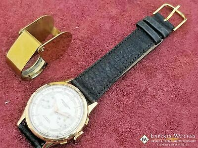 $ CDN792.86 • Buy Serviced Vintage Cronographe Suisse Chronograph 18K Gold Landeron 248 Watch
