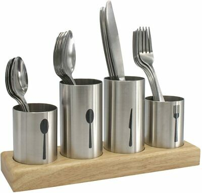 AU33.87 • Buy Sorbus Silverware Holder With Caddy For Spoons, Knives Forks - Utensil Organizer