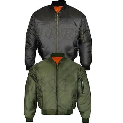 £19.89 • Buy Mens MA1 Army Pilot Biker Bomber Security Fly Military Doorman Jacket Top New