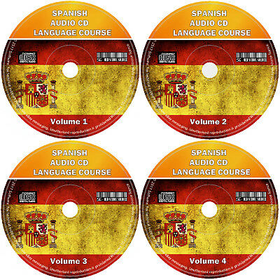 Spanish Language Course For Beginners Easy Learn By Listening 4 X Audio CD Set • 4.99£