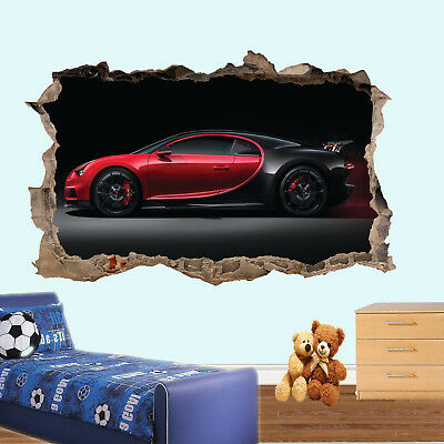 £22.99 • Buy Super Sports Car Wall Stickers 3d Art Mural Poster Office Home Decor Us1