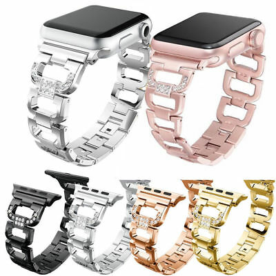 AU16.99 • Buy Stainless Bracelet IWatch Band Strap For Apple Watch Series 5 4 3 2 1 40/38/42MM