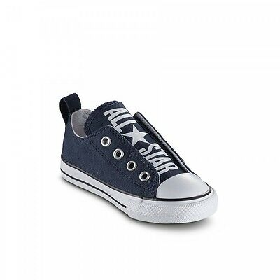 6802d38e26 Converse All Star Ox Slip On Baby Bambino 756861c Blu Navy Con Elastico 19  - 26