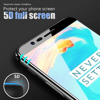 AU2.93 • Buy 3D 5D Full Cover Curved Edge Tempered Glass Screen Protector For OnePlus 5T 5