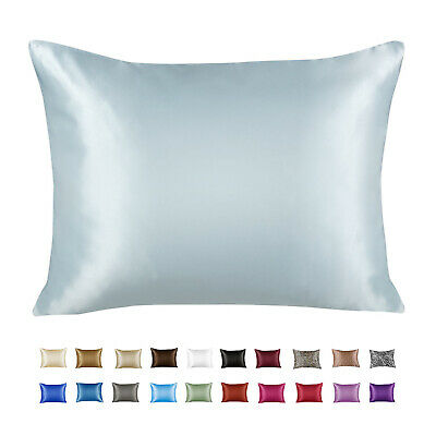 AU13.10 • Buy Luxury Satin Pillowcase With Zipper, Standard Size (Silky Pillow Case For Hair)