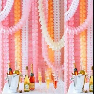£1.99 • Buy Hanging Paper Garlands Flora Chain Wedding Party Ceiling Banner Decoration 3.6m