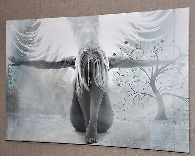 Stunning Abstract Girl Angel Wings Canvas Picture Print Wall Art 2765 • 28.53£